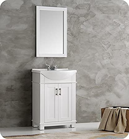 Fresca FVN2302WH CMB Hartford 24u0026quot; White Traditional Bathroom Vanity