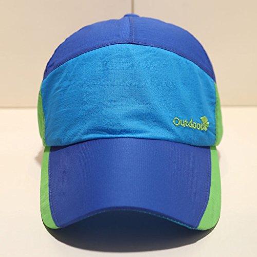 De Deportes Azul Los Hombres La Pesca Correr Femenina Béisbol Verano Aire Gorra Del Sombrero Sol Marea Libre Cjh Al YPU5f