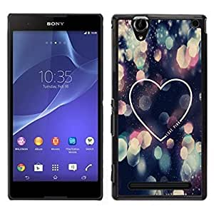 For Sony Xperia T2 Ultra , S-type® Love City Lights Night Heart Minimalist - Arte & diseño plástico duro Fundas Cover Cubre Hard Case Cover