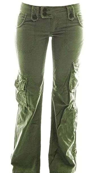 unique design aliexpress separation shoes MU2M Women Straight Leg Plus Size Loose Multiple Pockets ...