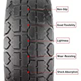 """WINWEND 10"""" Flat Free Tires with 5/8"""" Center"""