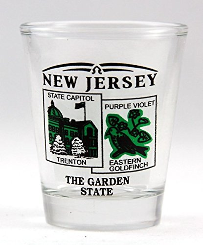 New Jersey State Scenery Green New Shot Glass