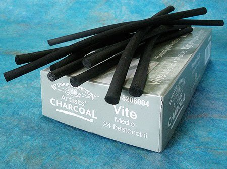 Winsor & Newton Vine Charcoal- Box of 24 Medium Sticks 94376887792