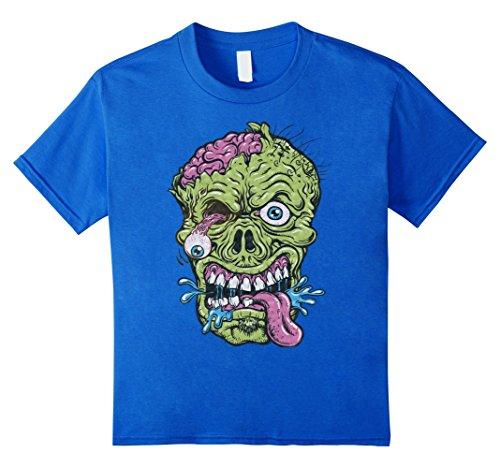 Kids Zombie T-Shirt Funny Halloween Gift Idea Shirt 8 Royal Blue