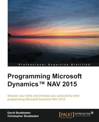 "Programming Microsoft Dynamicsâ""¢ NAV 2015"
