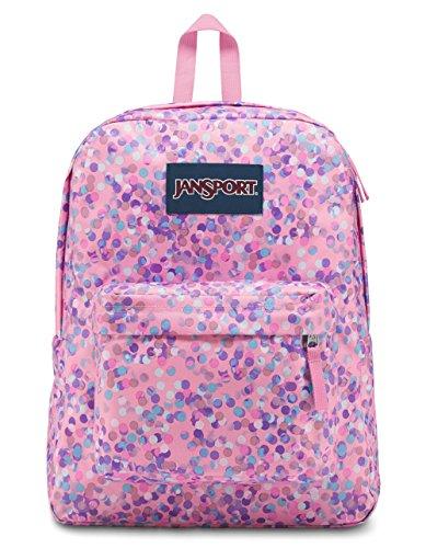 JanSport Unisex Superbreak Classic Ultralight Backpack Pink Sparkle Dot by JanSport (Image #1)