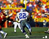 Signed Emmitt Smith Photo - 16x20 Smith Holo - Player Hologram - Autographed NFL Photos