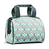 Fit & Fresh Insulated Lunch Bag, Charlotte Gray Aqua Leaf