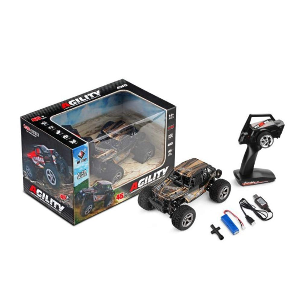 D.ragon 1 20 2.4GHz RC Car Remote Control 4WD High Speed Racing Vehicle with LED Light, Rechargeable WLtoys Car RC Car, Vehicle Miniature