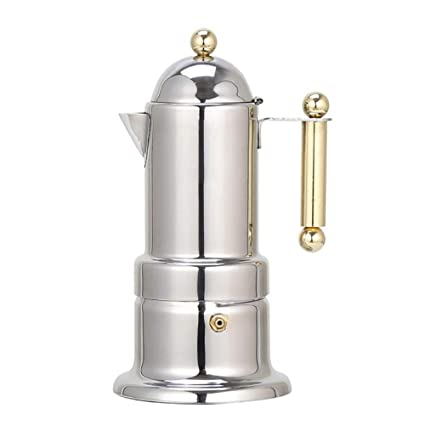 Amazon.com: ZUZEN 200ml 4 Cups Stainless Steel Coffee Pot ...