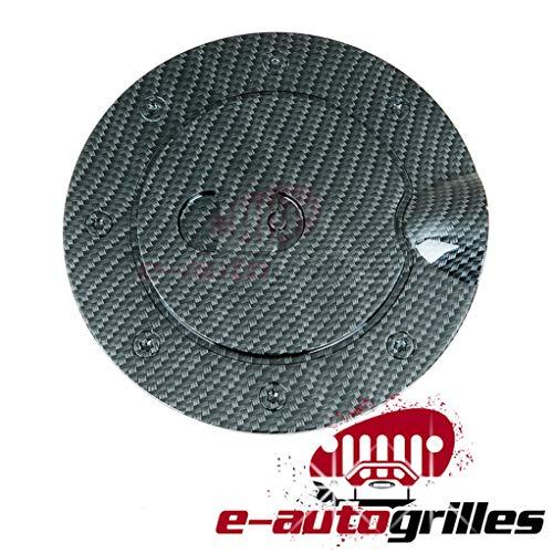 (EAG Carbon Fiber Look Fuel Gas Door Cover for 07-13 Chevy Silverado 1500/07-14 Chevy Silverado 2500/3500/07-13 GMC Sierra 1500/07-14 GMC Sierra 2500/3500)
