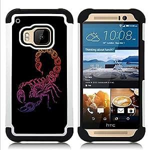 For HTC ONE M9 - Neon Scorpion Dual Layer caso de Shell HUELGA Impacto pata de cabra con im????genes gr????ficas Steam - Funny Shop -
