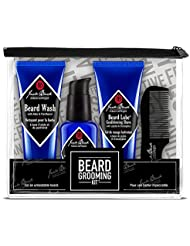 JACK BLACK – Beard Grooming Kit – Beard Wash, Beard Lube Conditioning Shave, Beard Oil, Beard Comb, Helps Soften Facial Hair, Pre-Shave Oil, Shave Cream, Sulfate-Free Formula, 4-Piece Kit