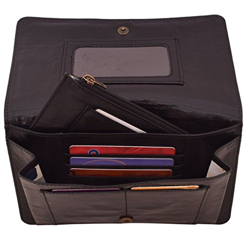 Latico Leathers Palmer Wallet Genuine Authentic Luxury Leather, Designer Made, Business Fashion and Casual Wear, Black by Latico (Image #2)