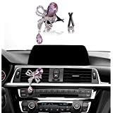 Bling Car Accessories, Mini-Factory Car Interior Bling Accessory Air Vent Bling Car Decor - Diamond Butterfly Pink