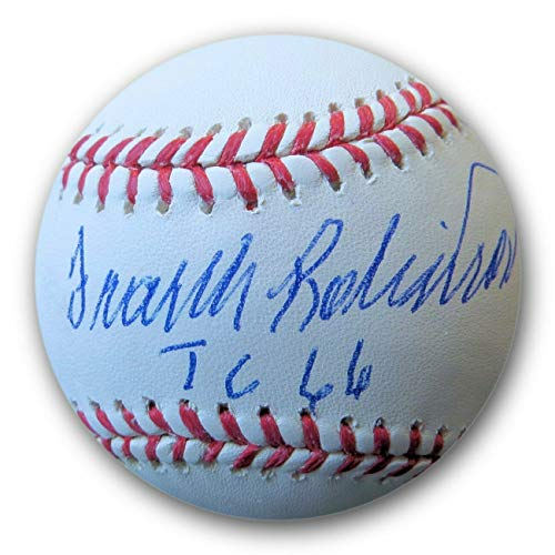 (Frank Robinson Autographed Signed MLB Baseball Tc 66 Triple Crown JSA Wp041791 - Authentic Memorabilia)