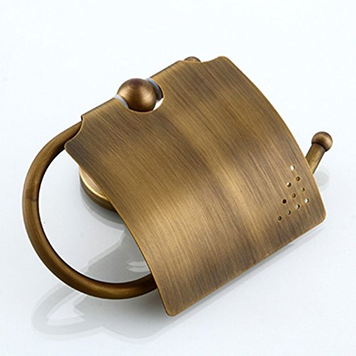chic Antique Bronze Finish Bathroom Accessories Set Towel Rack Holder Soap Basket Rob Hook and Paper Tissue Holder