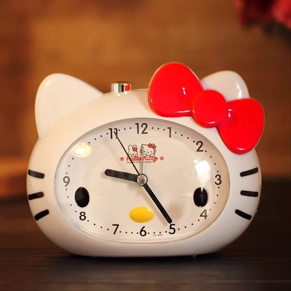 hznzh Sveglia Luce Notturna Hello Kitty Super Muto LED Luce Notturna Bambino Ragazza Studente Carino Cartone Animato Piccolo Sveglia B