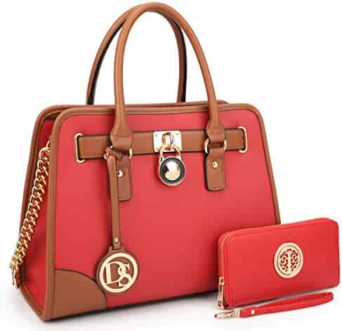 b51070158348 Women Designer Handbags and Purses Ladies Satchel Bags Shoulder Bags Top  Handle Bags w Matching