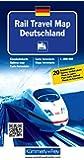 Rail Travel Map Deutschland: Massstab 1:800 000, Eisenbahnkarte, mit 20 Bahnhofspläne (Kümmerly+Frey Thematische Karten, Relief, Band 123)