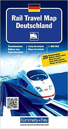 Rail Travel Map Deutschland: Massstab 1:800 000 ...