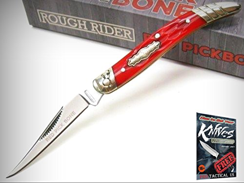 Rough Rider Red Pick Bone MINI TOOTHPICK Folding Pocket Knife New! 0011680 + free eBook by ProTactical'US