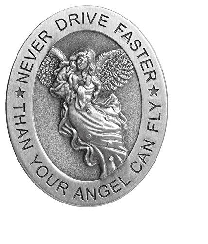 Angelstar 15725 Metal Visor Clip, 2-1/2-Inch, Never Drive (Drive Safely Visor Clip)