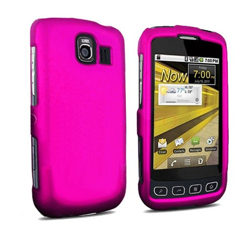(Importer520 Hard Protector Skin Cover Cell Phone Case for LG Optimus S LS670 Sprint - Hot Pink)