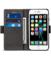 Elehome [Splice Series] Leather Wallet Cases for iPhone