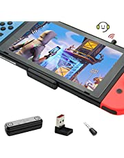 GuliKit Route Air Pro Bluetooth-adapter voor Nintendo Switch/Lite, Draadloze Bluetooth-audiozender met aptX Lage Latentie, Ondersteuning voor Bluetooth-koptelefoon Oortelefoon Luidsprekers - Zwart