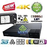 SONY BDP-S6700 avec conversion ascendante 2K/4K Lecteur Multi Zone Region Code Free Blu Ray 2D/3D - WI-FI - DVD - SACD- CD Player - PAL/NTSC - Worldwide Voltage 100~240V - 1 USB, 1 HDMI, 1 COAX, 1 ETHERNET Connections + MSYSTEM Câble HDMI 2M Bundle