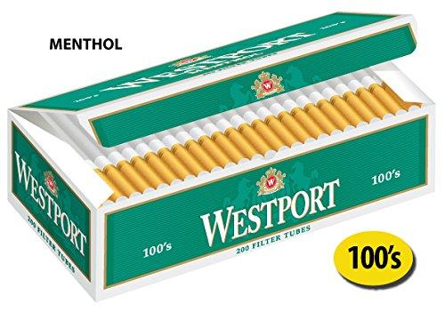 Westport 100's Filter Cigarette Tubes Menthol Green 10 - Outlets Westport
