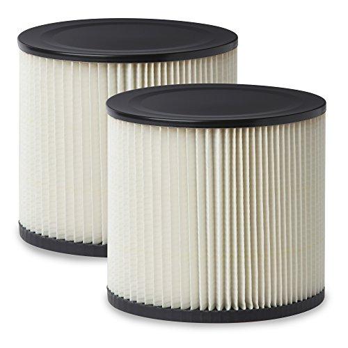 Multi-Fit Wet Dry Vac Filters VF2007TP Standard Wet Dry Vacuum Filters (2 Pack - Shop Vacuum Cleaner Filters) Fits Most 5 gallon & Larger Shop-Vac, Vacmaster & Genie Shop Vacuum ()
