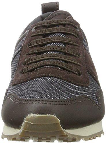 Tommy Hilfiger M3285axwell Jr 11c6, Zapatillas Para Niños Marrón (Coffee Bean-steel Grey)