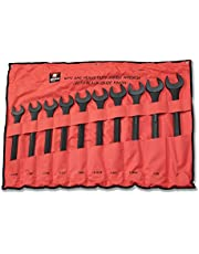Neiko 03129A SAE Jumbo-Size Wrench Set, Drop Forged Steel with Black-Oxide, 10-Piece