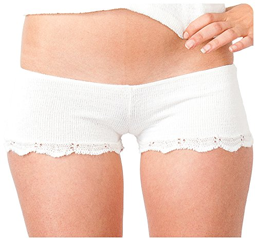 White Petite Sexy Lace Bikini Shorts For When Shorts Are Not Short Enough KD dance NYC #Lingerie Sexy Gift #Longewear #Dancewear Made In USA ()