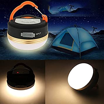 Lixada 60 LED Outdoor Indoor Camping Lamp with Lampshade Circle Tent White Light