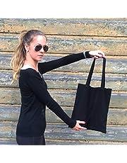 Black Cotton Tote Bag, Reusable Shopping Bag, Cotton Bag, Tote Bag, Black Bag, Recycled Bag, Craft Bag, DIY Bag, Gym Bag, Yoga Bag