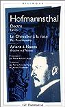 Electre - Le Chevalier à la rose - Ariane à Naxos (édition bilingue français-allemand) par Hofmannsthal