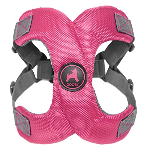 [Old Version] Gooby Escape Free Memory Foam Harness for Small Dogs, Pink, Large (Mut 17 Best Running Backs)