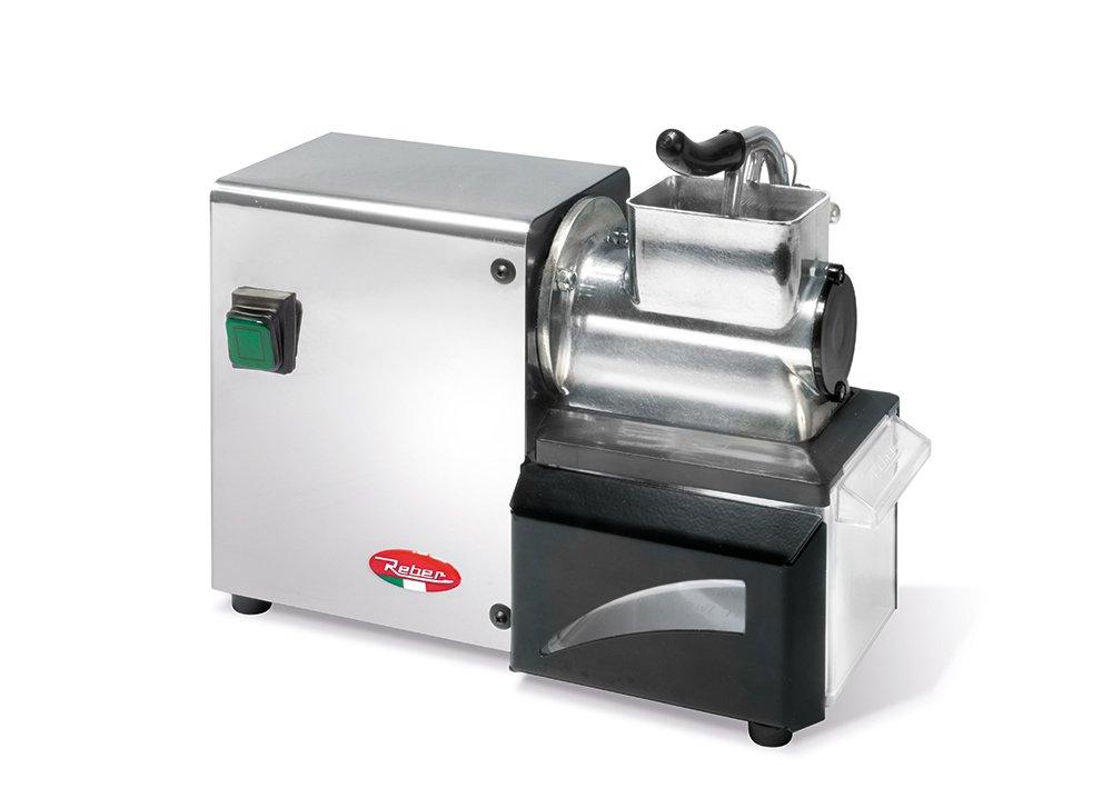Reber N.3 10053N Grattugia Elettrica, Alluminio e Acciaio, 200W, Nero/Grigio N. 3 - 200 W