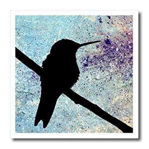 ht_130458_2 Cassie Peters Birds - Hummingbird in Purple and Blue Grunge by Angelandspot - Iron on Heat Transfers - 6x6 Iron on Heat Transfer for White Material