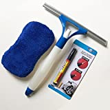 Car Washing Cleaning Tools Kit -Scratch Free Microfiber Wash and Scrub Auto Sponge Squeegee with Built-In Spray Bottle With a Scratch Repair Remover Filler & Sealer Painting Pen For All Colors.