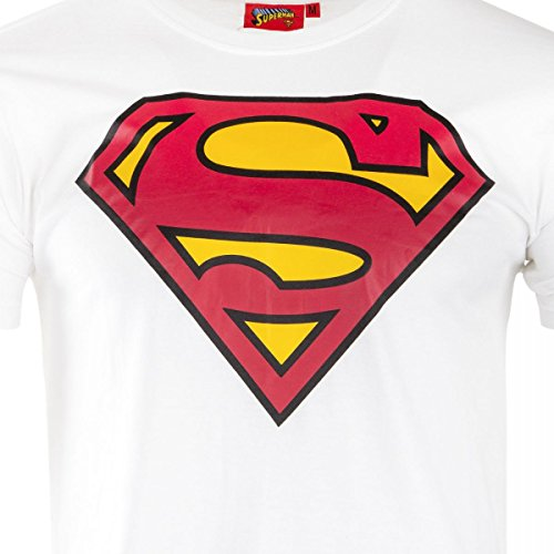 Logo M Marvel Homme Manches Blanc Shirt Superman Courtes Tee fZvqnUI