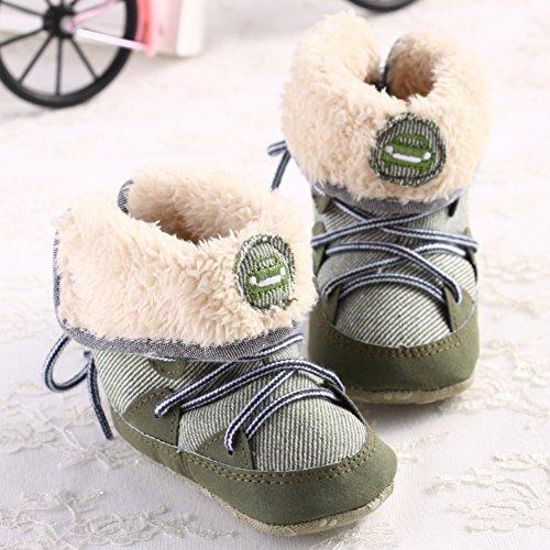 leap frog  Mid Culf Snow Boots, Baby Jungen Krabbelschuhe & Puschen Grün
