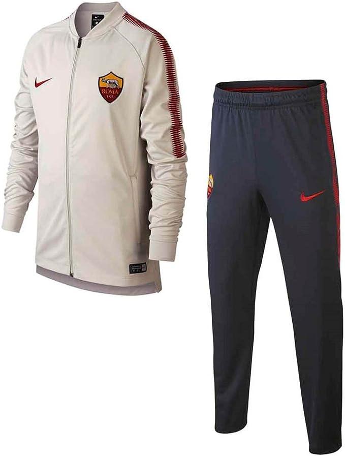 Nylon Supermarket Melancholy  Nike Roma Y Nk Dry Sqd TRK K, Tuta da Calcio Unisex Bambini,  Bianco/Ossidiana/Rosso, S: Amazon.it: Abbigliamento