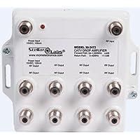 CATV/Antenna Drop Amplifier 1x8 Splitter with Passive Return