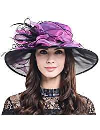 Two-Tone Kentucky Derby Church Dress Wedding Floral Tea Party Hat CS603