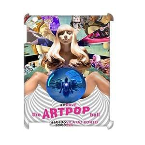 J-LV-F Lady Gaga Pattern 3D Case for iPad 2,3,4