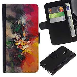 iBinBang / Flip Funda de Cuero Case Cover - Pintor Naturaleza Pincel - Samsung Galaxy S4 Mini i9190 MINI VERSION!